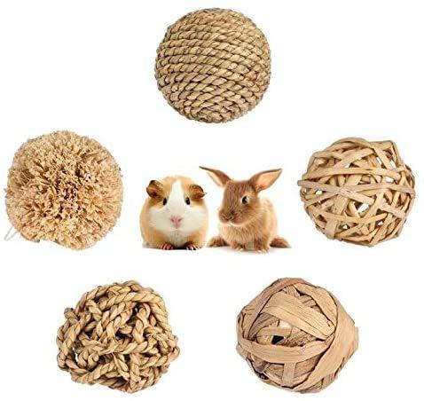 tao pipe Bola de hierba para conejo, conejillo de indias, loro, hámster, hierba, juguete de actividad