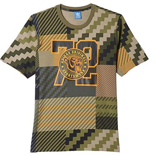 T-Shirt adidas Mad Plaid Größe: M Farbe: olive