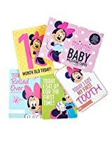 Disney Baby Girls Minnie Mouse Monthly 1st Year Photo Card Gift Set (0-12m)