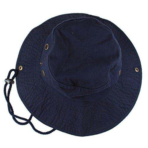 Gelante 100% Cotton Stone-Washed Safari Booney Sun Hats 1910-Navy-L/XL