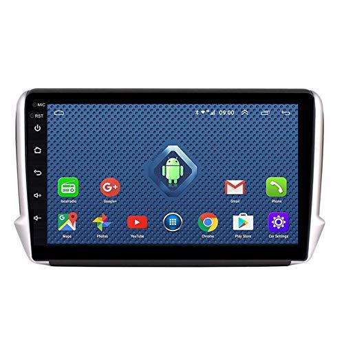 Android 8.1 Radio De Automóvil Para Peugeot 2008 208 Series 2015 2015 2015 Coche Estéreo GPS Navegación Toque Pantalla Coche Media Player Doble Din Head Unit Support WiFi Control Del(Color:WIFI:1+16G)