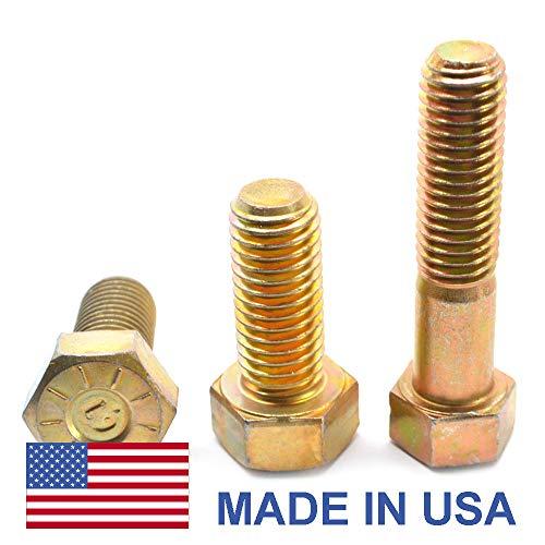 5 PCS 5//8-11x4 Grade 8 Dome Head Plow Bolts Plain