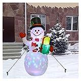 150 cm. GUIDATO Illuminato Gonfiabile Pupazzo di Neve, Pompa d'Aria Gonfiabile Giocattoli Interni Esterni Vacanze di Natale Capodanno Decorazioni del Partito