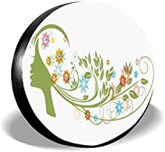 PoppyAnthony Spare Tire Cover Polyester Universal Spare Wheel Tire Cover 14 15 16 17 inch