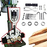 DNYSYSJ Woodworking Hole Bench Drilling Mortiser Square Hole Chisel Drilling Machine, Steel Clamp Locator Set Mortise Tenoning Machine Location Tool