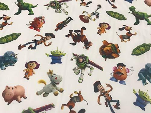 tela de disney, telas de TOY STORY BLANCO, telas de algodón, telas para manualidades, labores, patchwork, telas por metros, 1 metro x 140 cms. ENVIOS GRATUITOS