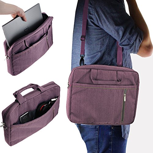 Navitech Purple Sleek Premium Water Resistant Shock Absorbent Carry Bag Case Compatible with The Acer TravelMate P648