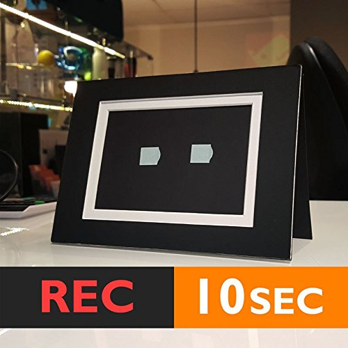 10s PHOTO FRAME CARD (BLACK) RECORD chip sound music voice talk greeting talking