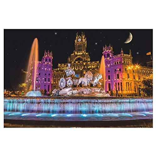 Searchyou Puzzle 1500 Piezas - Jigsaw Puzzle para Adultos y Infantiles - Fuente de Madrid Cibeles