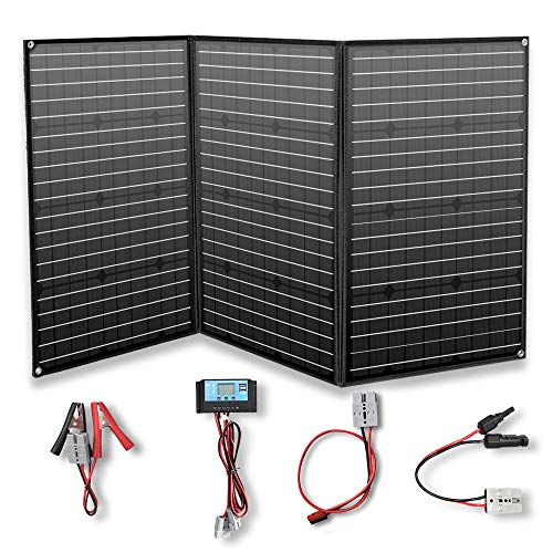 YUANFENGPOWER 150w 12 V Faltbar Solarpanel Solar Ladegerät solarmodul monokristallin mit 20A Laderegler für Boot, Auto, Caravan, Wohnmobil, Camping, Reisen, 12v Batterie Charging (150)