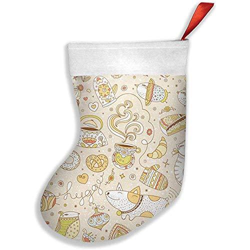 Wheatleya Hygge Weihnachtsstrümpfe, Socken für Weihnachtsdekorationen