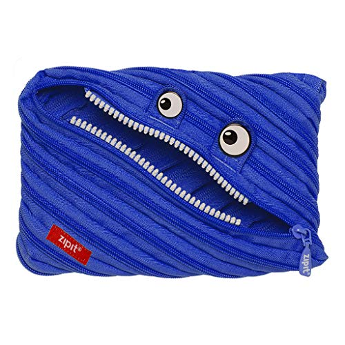 ZIPIT Monster – Estuche con 3 anillas, Estuche Jumbo, Azul Royal, Large