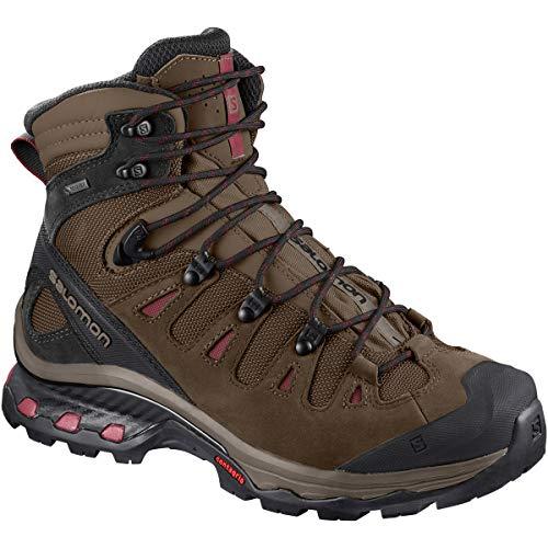 Salomon Women's Quest 4D 3 GTX Backpacking Boots, Teak/Teak/Tibetan Red, 9.5