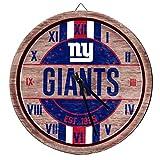 FOCO NFL New York Giants Team Logo Wood Barrel Wall ClockTeam Logo Wood Barrel Wall Clock, Team Color, One Size