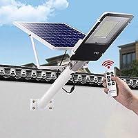 192 Ledソーラーパワー街路灯100W(32400Mwh)Ip65防水高輝度夕暮れから夜明けまでセキュリティ照明100-120㎡-公園/ガレージ/パス照明用、モーションセンサーなし