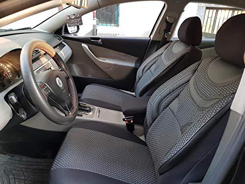 Sitzbezüge K-Maniac für Mercedes A-Klasse W168 | Universal schwarz-grau | Autositzbezüge Set Komplett | Autozubehör Innenraum | NO2225239 | Kfz Tuning | Sitzbezug | Sitzschoner