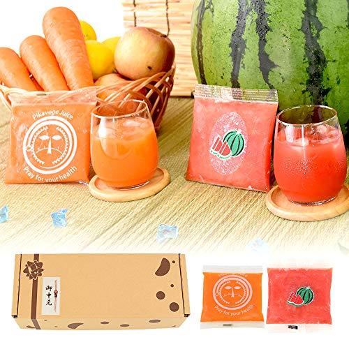 お中元 無添加冷凍ジュースセット 100ml×18パック (スイカ×9P、人参+りんご+レモン×9P)