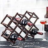 Botellero de madera para vino, plegable, de...