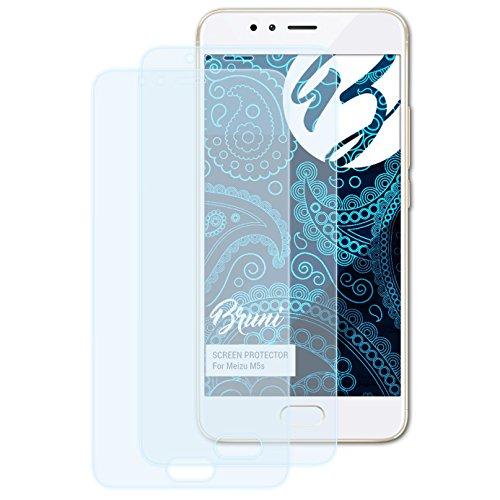 Bruni Schutzfolie kompatibel mit Meizu M5s Folie, glasklare Bildschirmschutzfolie (2X)