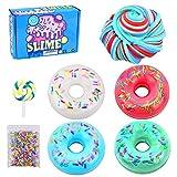 Donut Candy Slime,4 colores, colorido arcoíris de barro, algodón esponjoso, arcilla...
