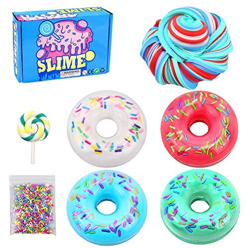 Donut Candy Slime-Fluffy Slime Fluffy Putty Floam Slime Kit for Stress Relief Toy para aliviar el estrés para niños y niñas, Regalo de cumpleaños