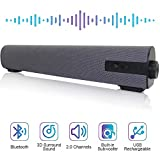 Soundbar Wired and Wireless Bluetooth Home Theater TV Stereo Speaker with Remote Control 2 X 5W...