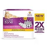 Comfort Zone Calming Diffuser Kit, New 2X Pheromones for Cats Formula, 3 Diffusers & 6 Refills