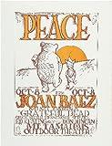 CLASSIC POSTERS Joan Baez Foto-Nachdruck eines