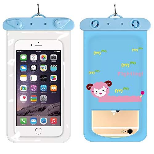 Funda impermeable para teléfono móvil IPX8, bolsa seca universal con toque bajo el agua, para iPhone XS Max/XS/XR/X/8/7 Plus, Samsung y otros teléfonos de hasta 6,0 pulgadas (10,5 x 19 cm)