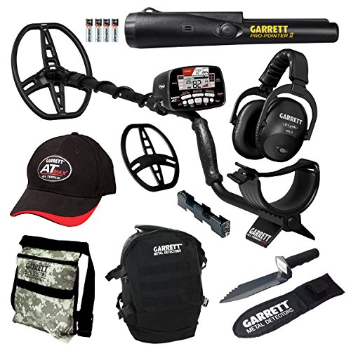 For Sale! Garrett at MAX Waterproof Detector with Pro Pointer II Pinpointer, Daypack, Digger