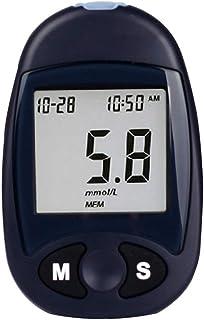 FJLOVE Medidor de glucosa en Sangre,Kit de Prueba de glucosa en Sangre con 50 Tiras de glucómetro,1 medidor de glucosa en Sangre,máquina de azúcar para Diabetes,sin codificación