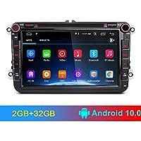 AWESAFE Android 10.0 [2GB+32GB] 8 Pulgadas Radio Coche con Pantalla 2 DIN para VW, Autoradio para VW con WiFi/GPS/Bluetooth/RDS/CD DVD/USB/FM Am/SD, Admite Mandos del Volante y Aparcamiento