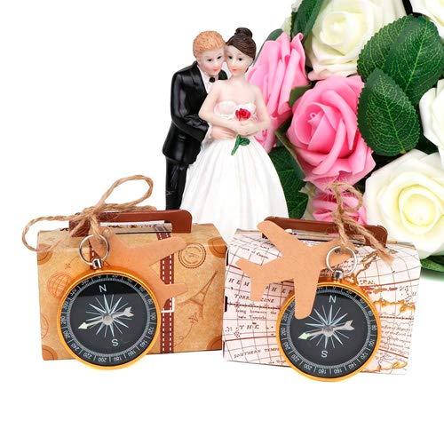 DISOK - Brújula presentada en caja de maleta vintage. Detalles vintage y...