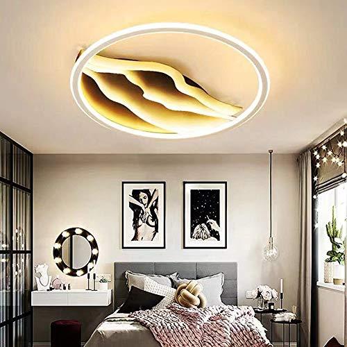 MGWA Luz de Techo Desert Creative Graphic Dormitorio Sala De Estar Hotel Restaurante Acrílico LED Luz De Techo Control Remoto Atenuación Continua (Size : 58W(40 * 40 * 8CM))