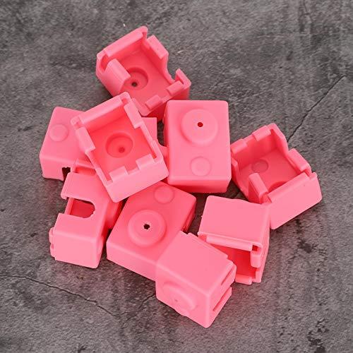 Calzino in silicone ad alte prestazioni di assorbimento Copertura in silicone non tossico Buona elasticità 10 pezzi Buona stabilità termica per blocco riscaldatore stampante 3D