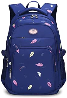 MYXMY Backpack for School College Student Bookbag Travel Business Laptop Compartment Chest Straps (Color : Blue)