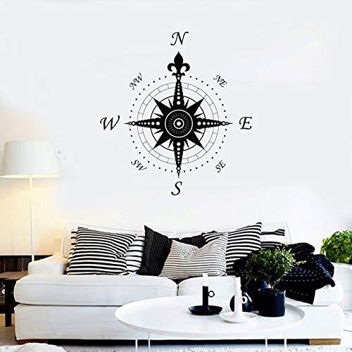 Tianpengyuanshuai kompas decal nautische decoratie mariene wetenschap reizen cool home decor slaapkamer kantoor vinyl muur sticker