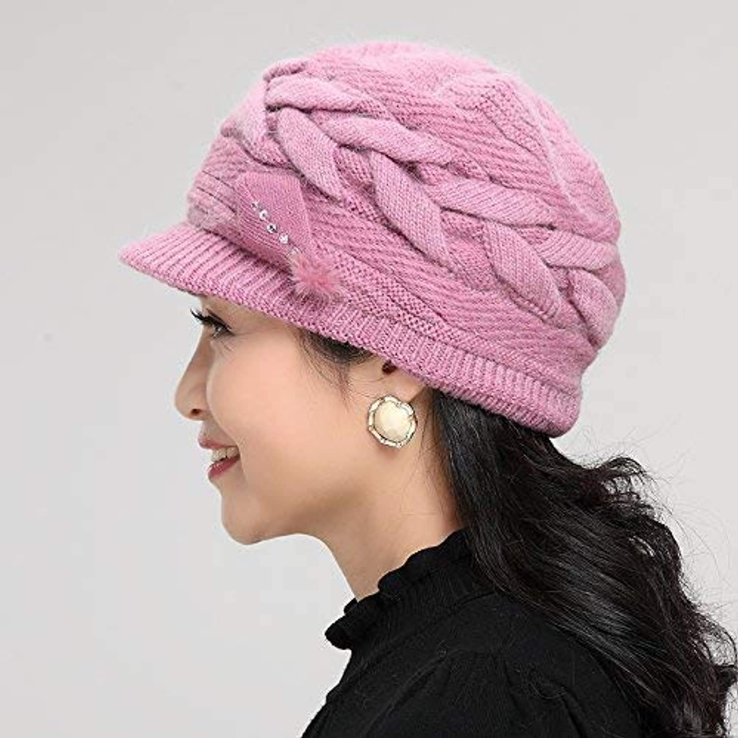 6c1e38f7bd174a Sports Hat Home Middle-Aged and Elderly Hats Autumn and Winter Knitted Wool  Hats,