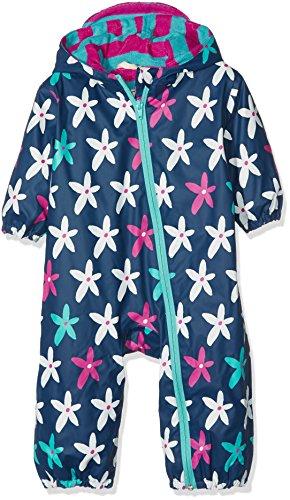 Hatley Mini Rain Bundlers Manteau imperméable, Bleu (Starflower 400), 24 Mois Bébé Fille