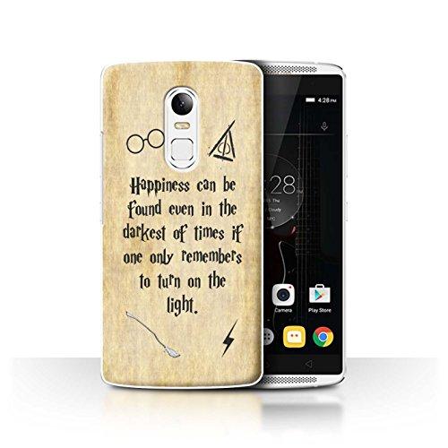 Hülle Für Lenovo Vibe X3 Schule der Magie Film Zitate Happiness/Darkest Times Design Transparent Ultra Dünn Klar Hart Schutz Handyhülle Case