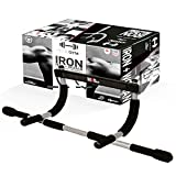 ACTIVEFITPRO Heavy Duty Chin up and Pull up bar for Doorway Pull ups Fitness Equipment Wall Mounted Pull-up Bars for Strength and Training and Home Workout for Man and Women (Black/Silver)