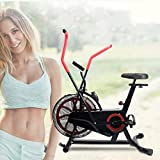 Shhjjyp Fan Exercise Bike with Air Resistance, Indoor Fitness Bicycle Spinning Bike Home Equipment, 300 Lb Capacity