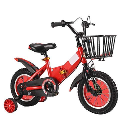 YumEIGE kinderfiets 12 inch 14 inch 16 inch 18 inch kinderfiets opvouwbaar voor 2-9 jaar kinderen 33-59 inch hoog met wieltjes voor training kinderen kinderfiets met mand blauw oranje rood
