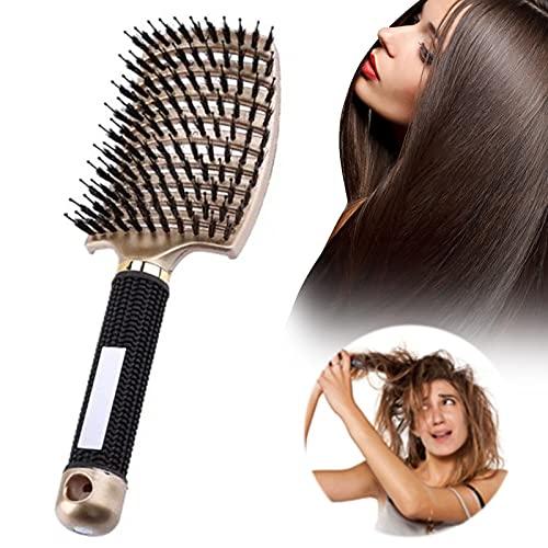 Zoomarlous Haarkämme, Haarbürste Wildschweinborste, entwirrbürste Anti-Tangling-Wildschweinborstenbürste, am besten zum Entwirren von dickem und entwirrendem Haar zum...
