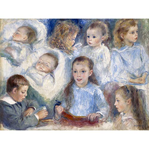 Renoir Sketches of Heads The Berard Children Painting Large Wall Art Poster Print Thick Paper 18X24 Inch Skizzieren Kinder Gem�lde Wand Poster drucken