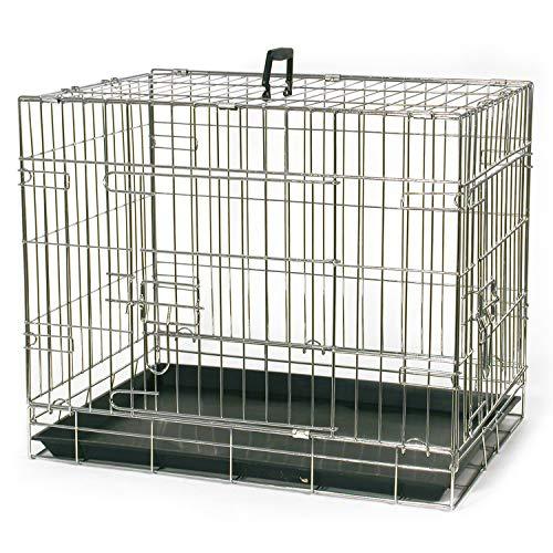 Arquivet Petite Cage de Transport pour Chien, en métal, 1 Porte, Pliable, 61 x 44 x 52 cm