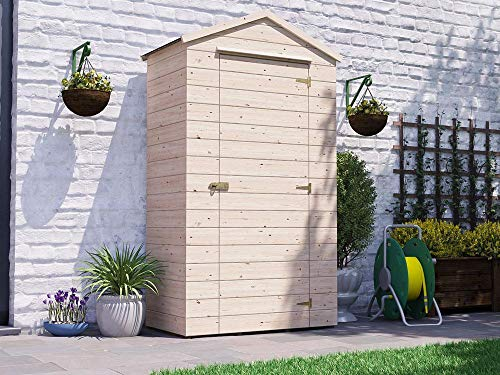 Dunster House Sentry Box Wooden Garden Tool Shed with Storage Shelf and Tool Rail - Talia