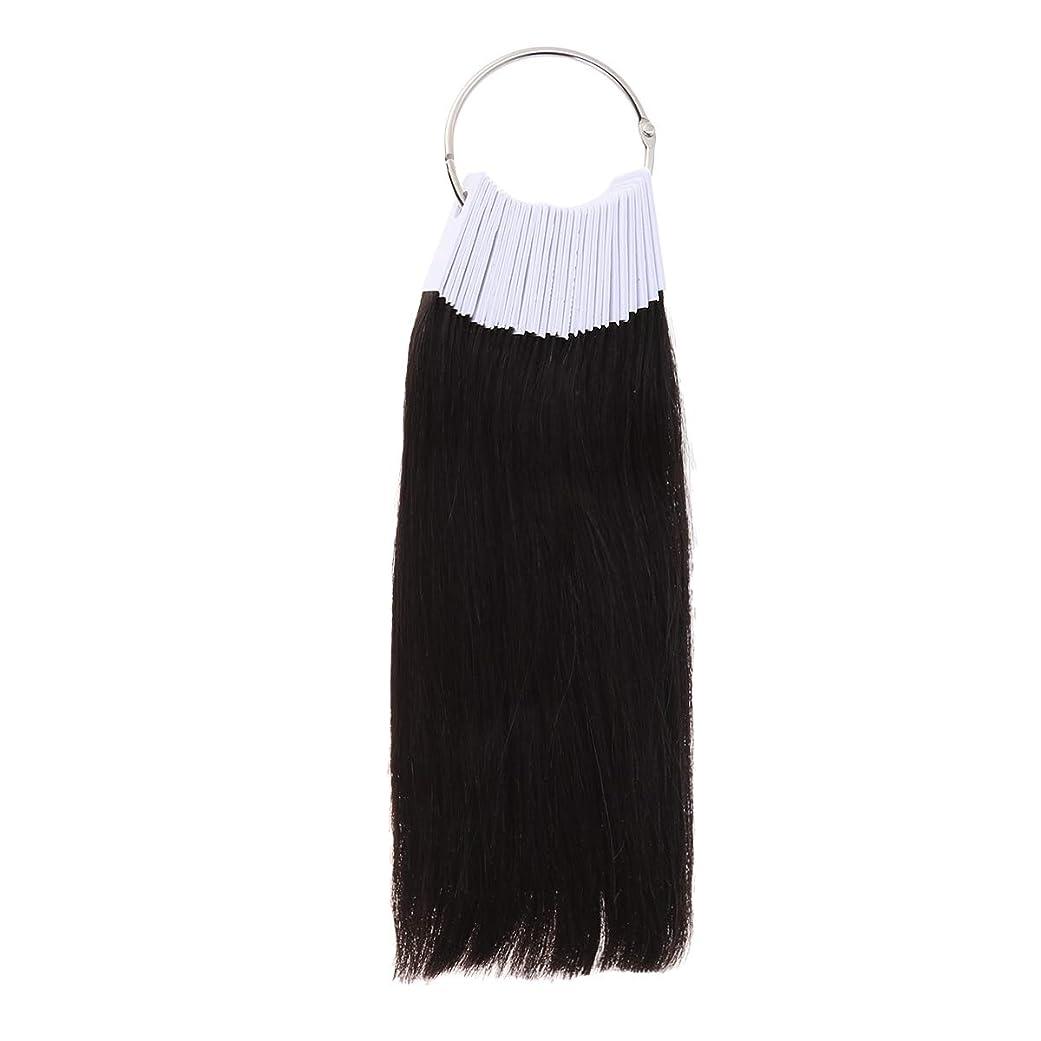 不毛ワイン廃止LURROSE 30PCSヘアカラーリング人間の髪の色見本サロン用カラーサンプル(9度色)