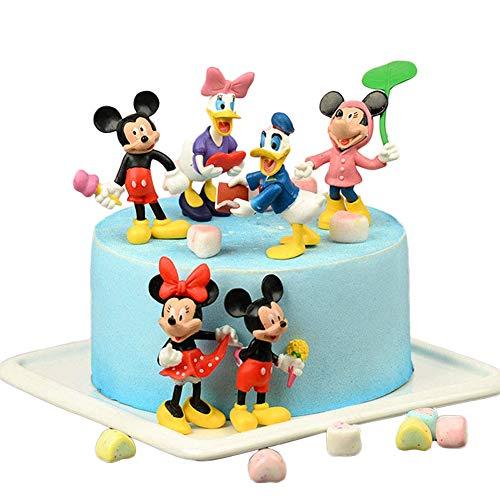 Mi_c_Key Mini Figures Set,8pcs Mi_c_Key,Donald Duck Cake Toppers,Birthday Party Supplies Cupcake Figures Decoration,Mi_c_Key Action Figures for Kid