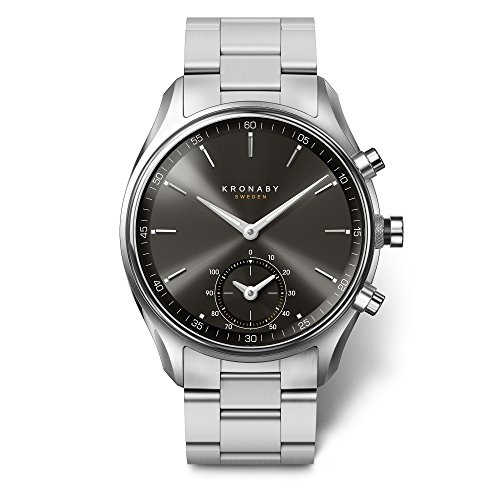 KRONABY SEKEL Herren Hybrid Smartwatch A1000-0720 eine traditionelle Uhr mit Smartwatch Funktionalitäten 43 mm Gehäusedurchmesser Saphirglas 100 Meter wasserdicht